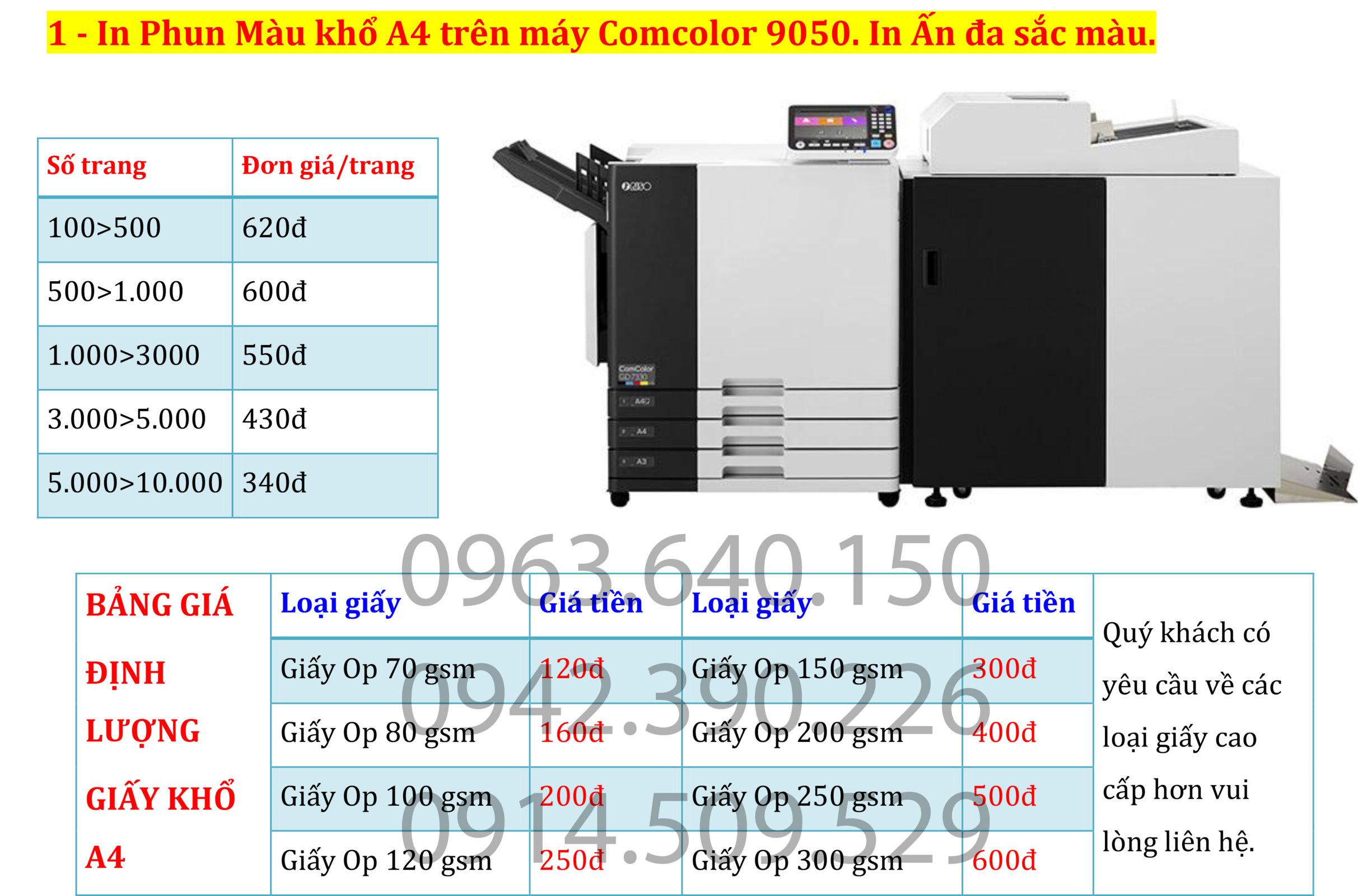 2. In ấn tài liệu màu. photo tài liệu màu giá rẻ tại Hà Nội.