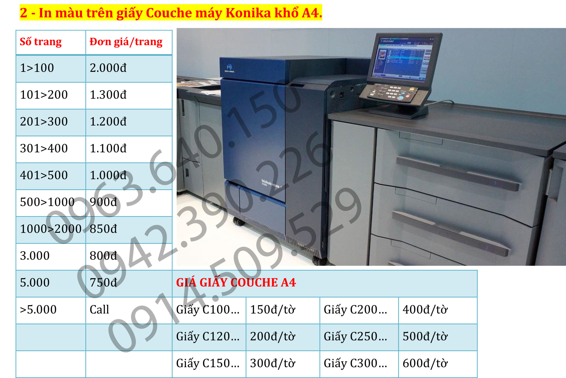 3.  In ấn tài liệu màu. photo tài liệu màu giá rẻ nhất tại Hà Nộ.